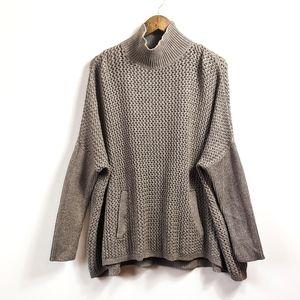 Ann Taylor LOFT Turtleneck Poncho Sweater